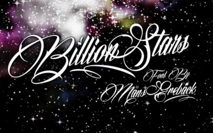 Billion Stars Font