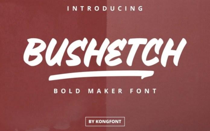 Bushetch Font