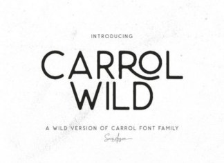 Carrol Wild Font