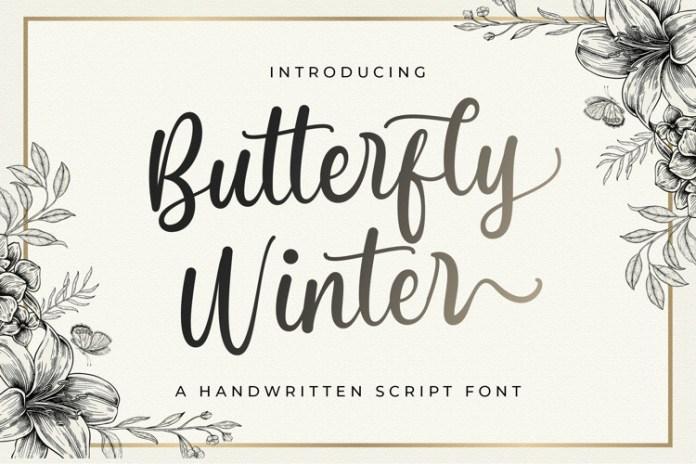 Butterfly Winter Font