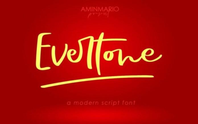 Evertone Font