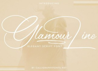Glamour Line Font