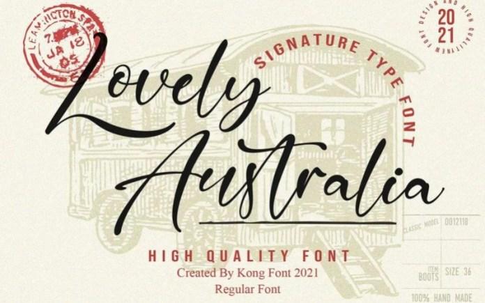 Lovely Australia Font
