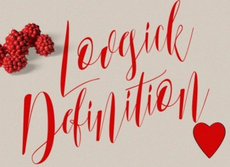 Lovesick Definition Font