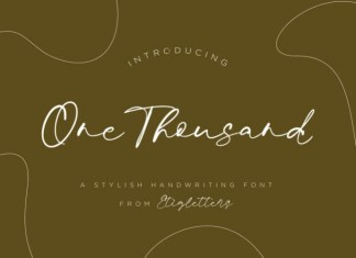 One Thousand Font