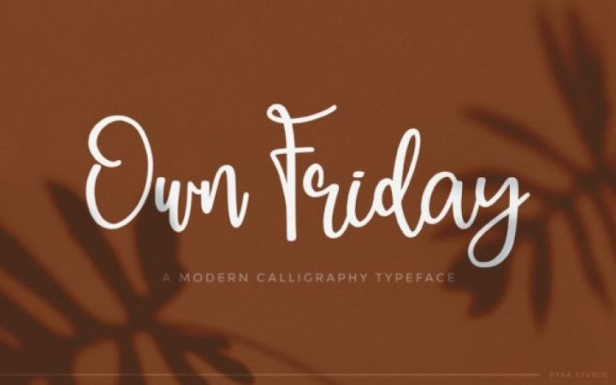Own Friday Font