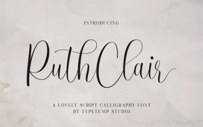 RuthClair Font