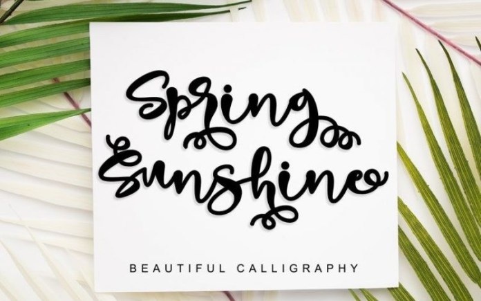Spring Sunshine Font