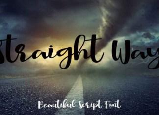 Straight Way Font