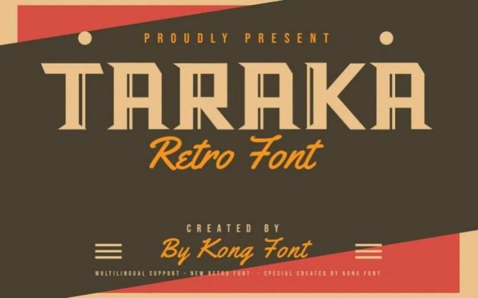 Taraka Font