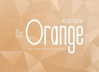 The Orange Font