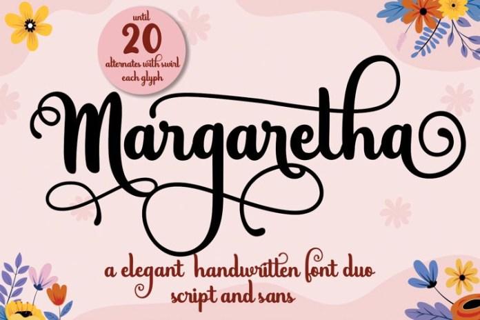 Margaretha Calligraphy Font