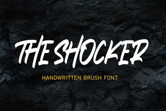 THE SHOCKER Brush Font