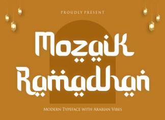 Mozaik Ramadhan Display Font