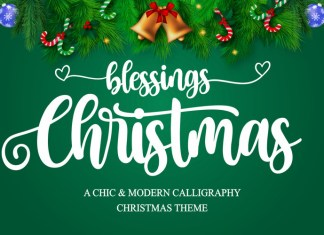 Christmas Blessings Calligraphy Font