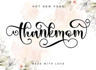 Thankmom Calligraphy Font