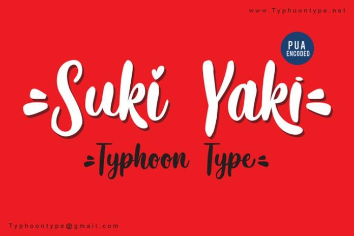 Suki Yaki Font