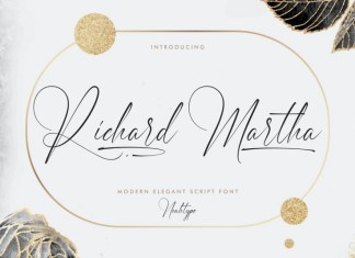 Richard Martha Calligraphy Font