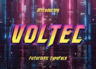 Voltec Display Font