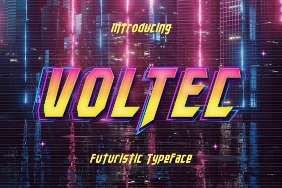 Voltec Display Font