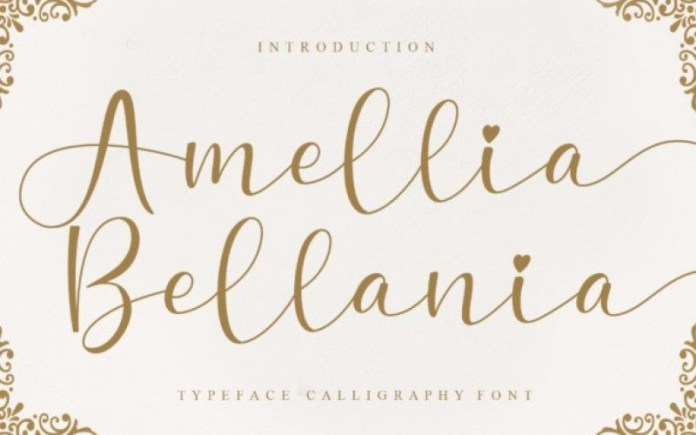 Amellia Bellania Calligraphy Font