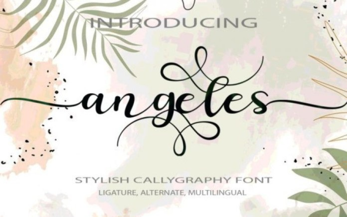Angeles Calligraphy Font