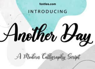 Another Day Script Font