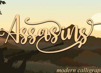 Assasins Calligraphy Font