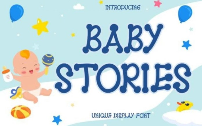 Baby Stories Display Font
