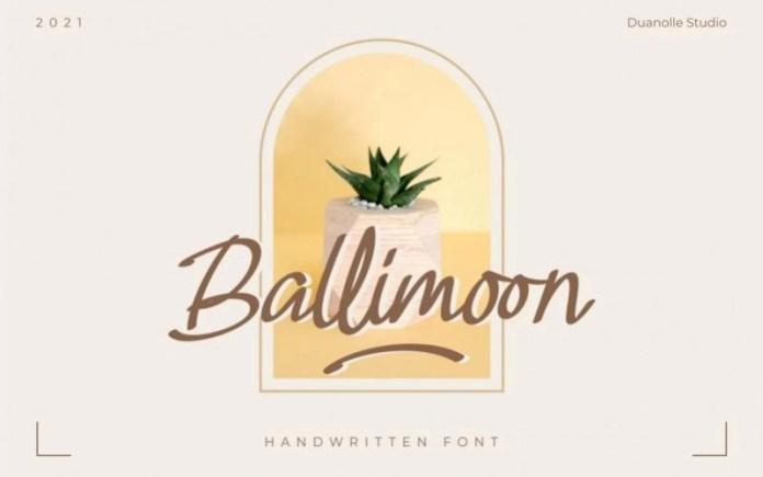 Ballimoon Script Font