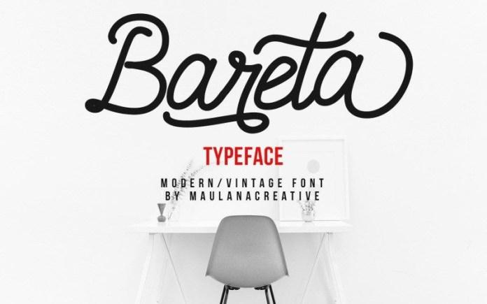 Bareta Handwritten Font