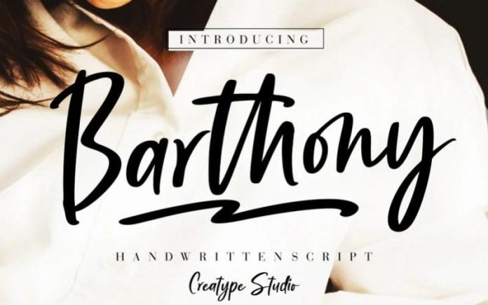 Barthony Brush Font
