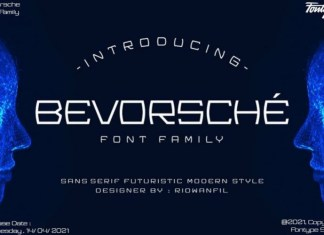 Bevorsche Display Font