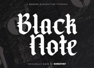 Black Note Blackletter Font
