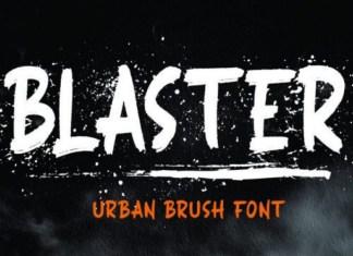 BLASTER Brush Font