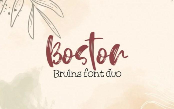 Boston Bruins Font