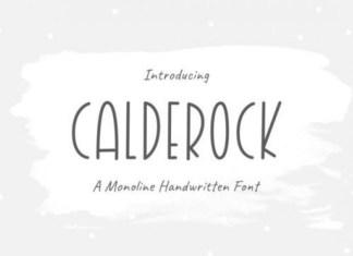 Calderock Display Font