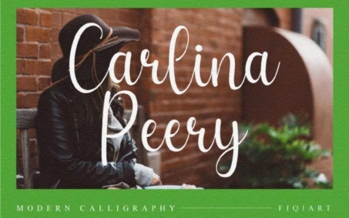 Carlina Peery Script Font
