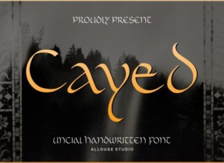 Cayed Display Font