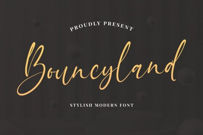 Bouncyland Script Font