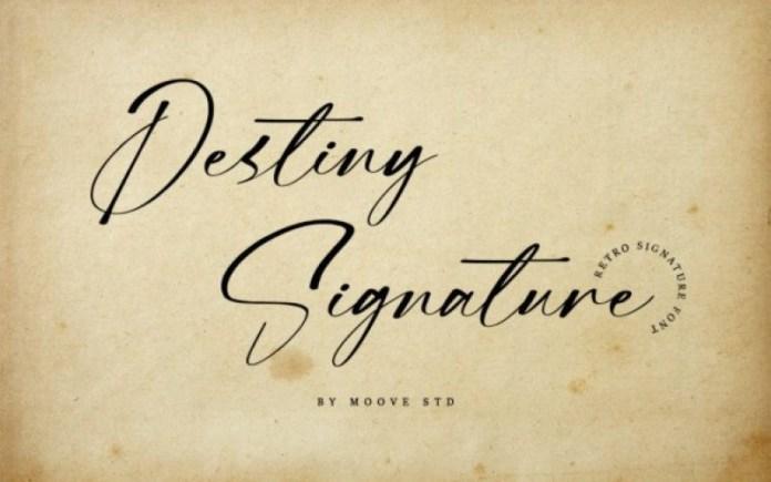 Destiny Signature Script Font