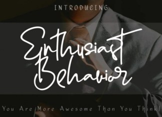 Enthusiast Behavior Handwritten Font