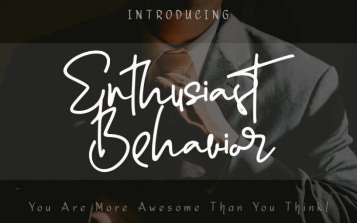 Enthusiast Behavior Handwritten Font