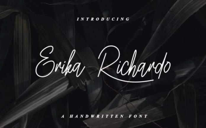 Erika Richardo Handwritten Font