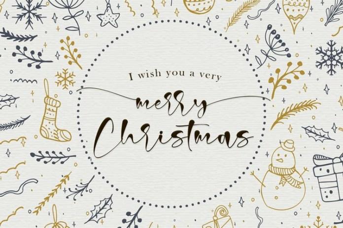 Christmas Signature Script Font