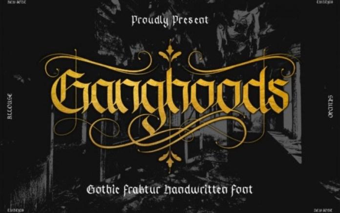 Ganghoods Blackletter Font
