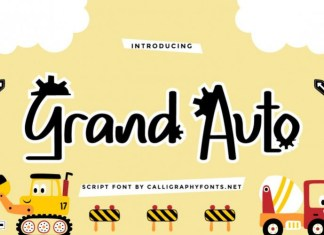 Grand Auto Display Font