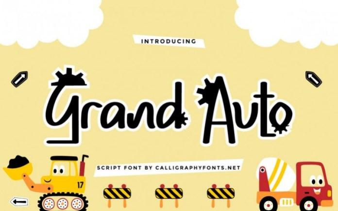 Grand Auto Display Font