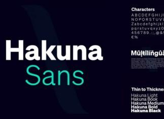 Hakuna Sans Serif Font