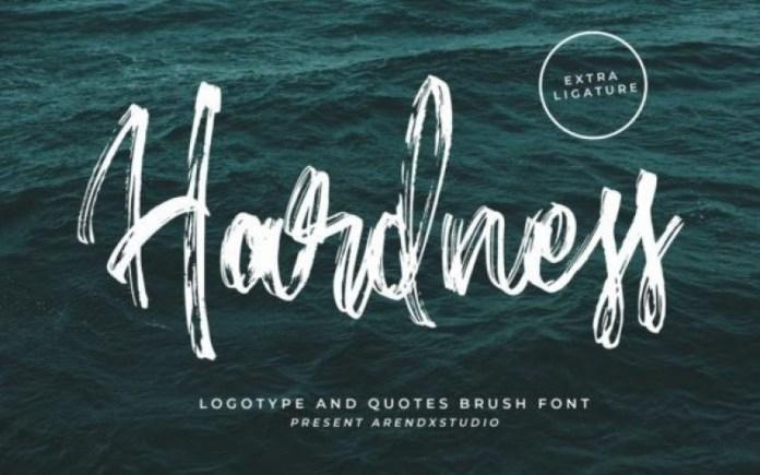 Hardness Brush Font